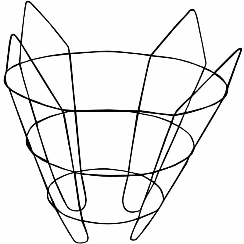 cone wire tree basket