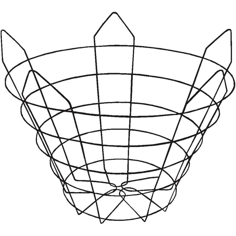 truncated wire tree basket