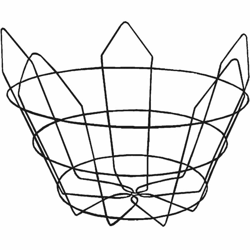 truncated-short wire tree basket