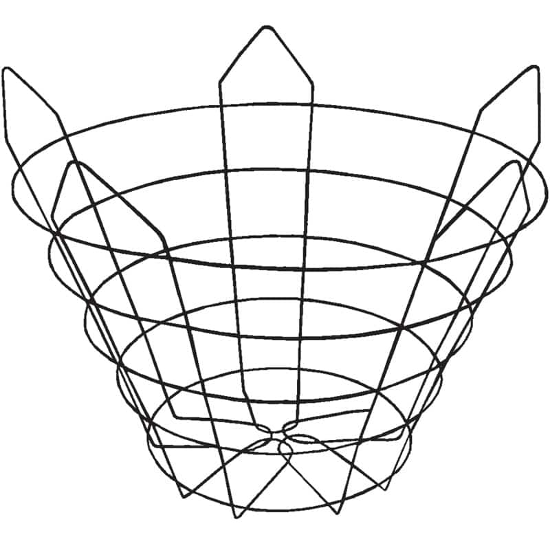 modified-custom wire tree basket