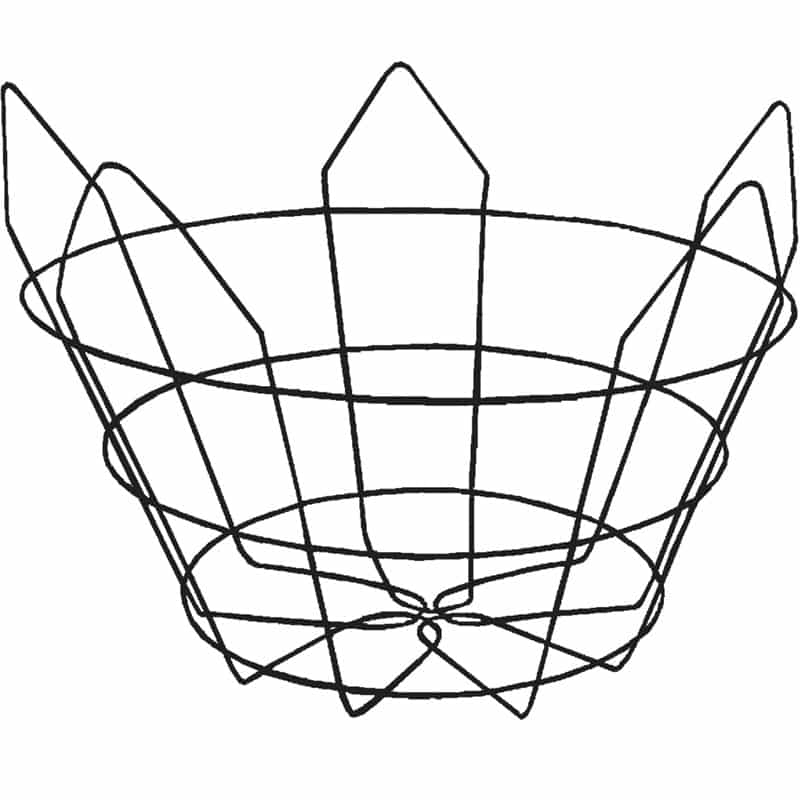modified-short wire tree basket