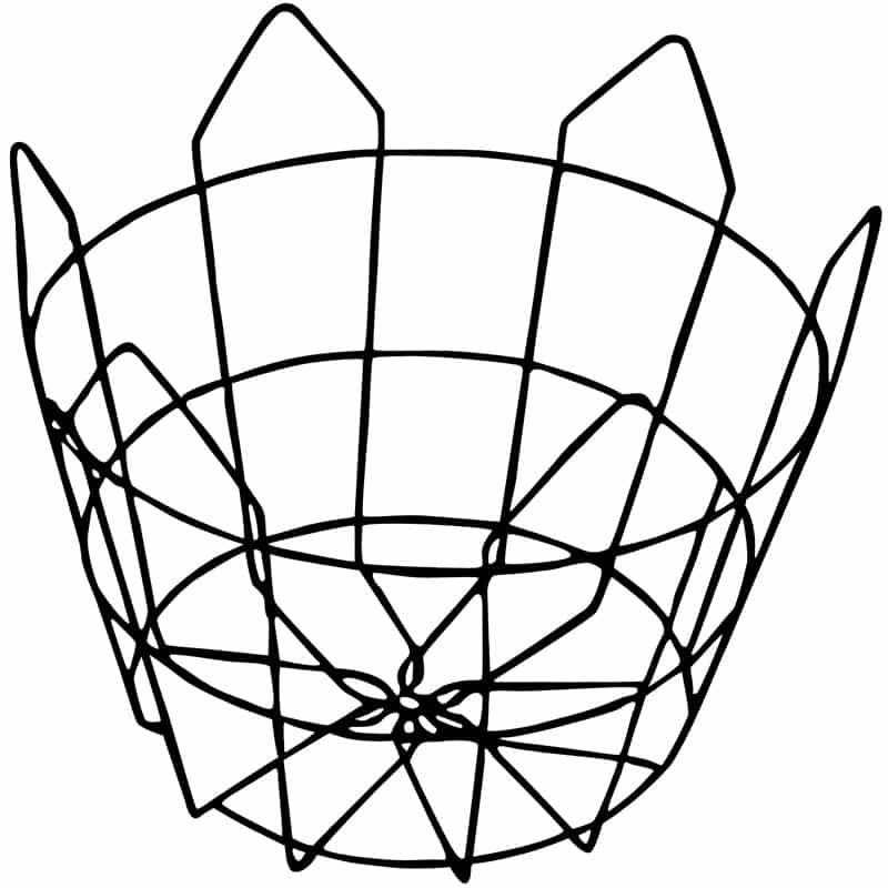 clegg wire tree basket