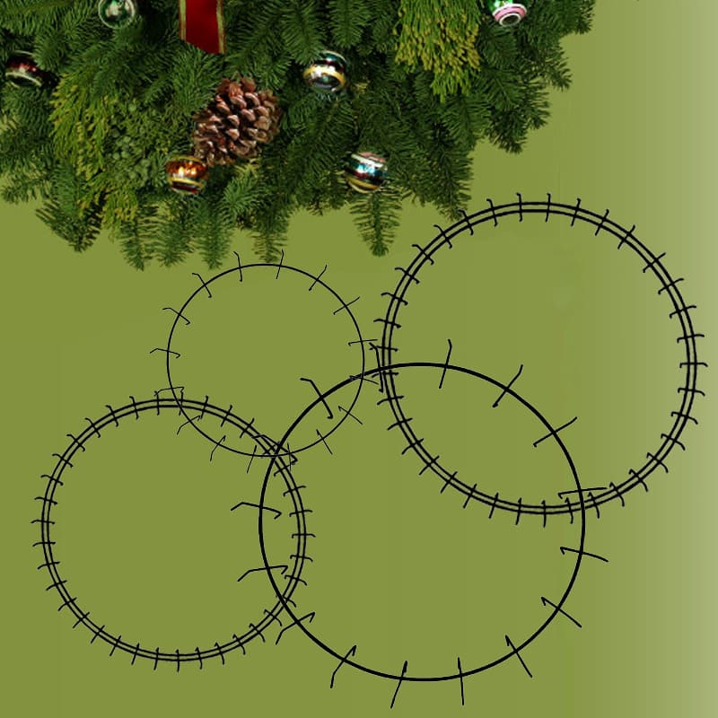 single and double rail clamp wreath ring forms
