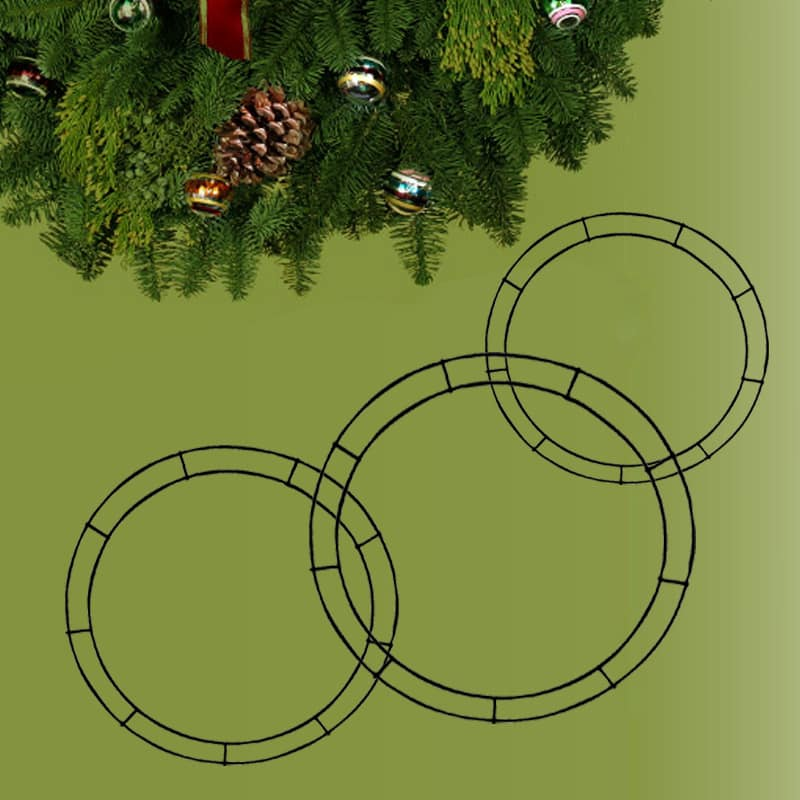 double rail flat wreath ring forms