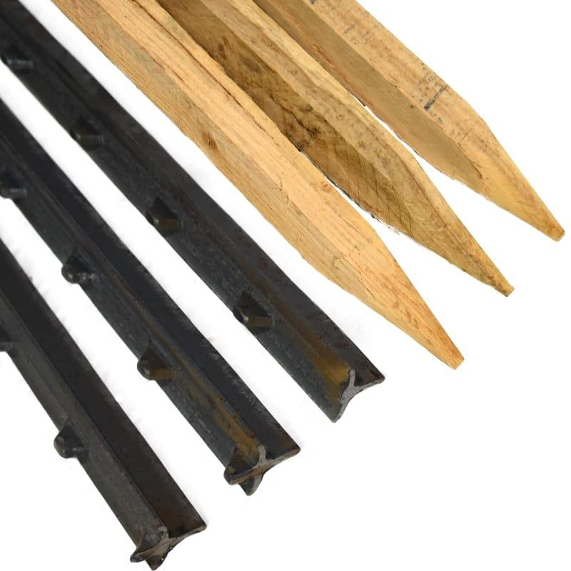 Wood Stakes & Steel Posts